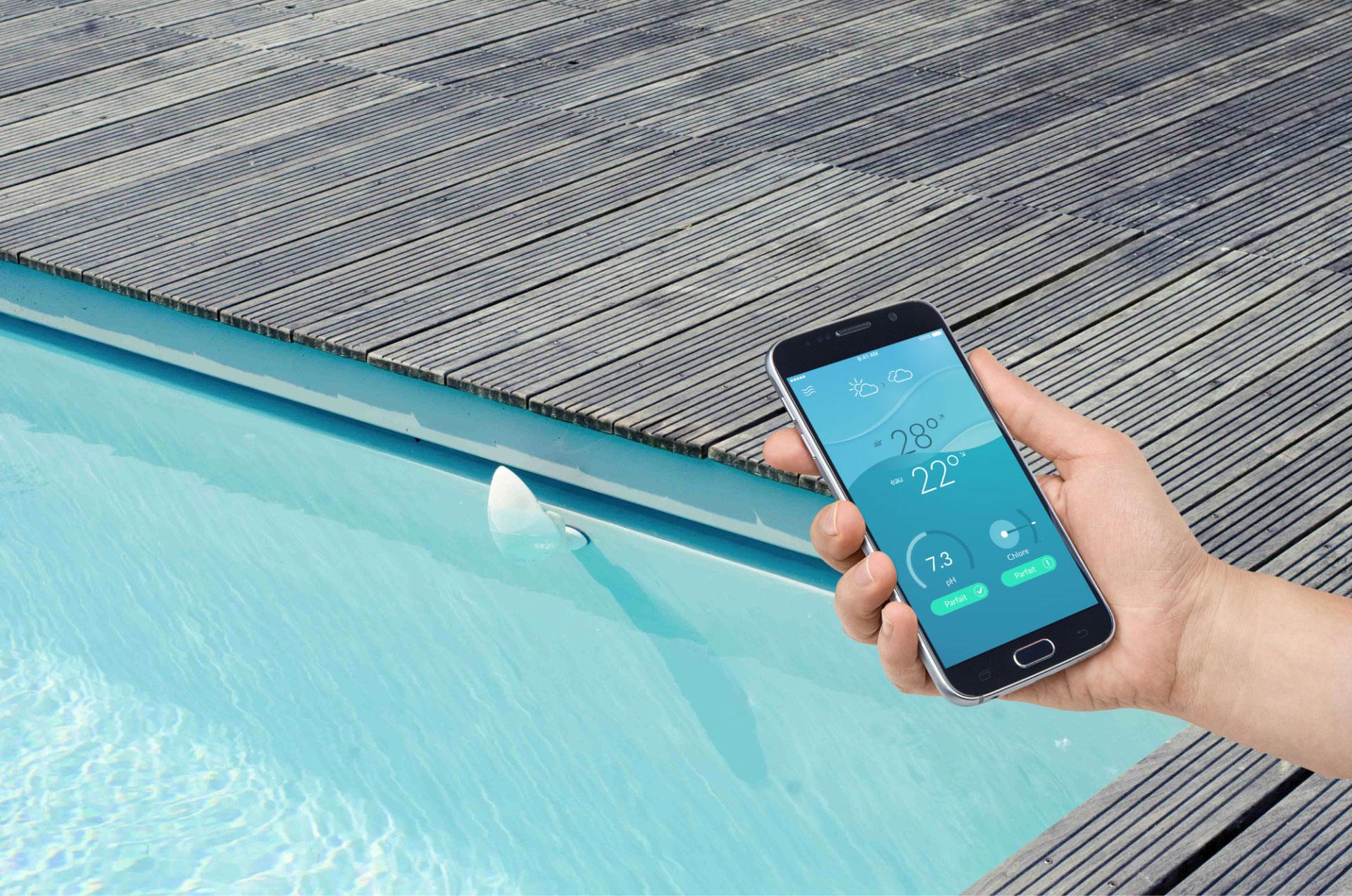 Flipr objet connect pour entretenir sa piscine for Chlorine piscine