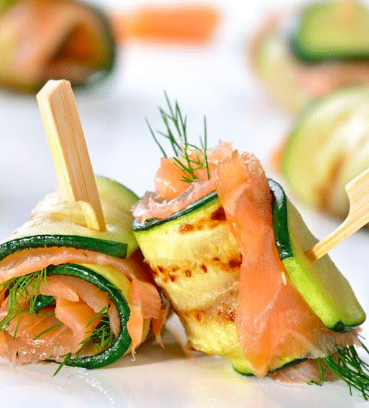 Apéro du vendredi: courgette saumon